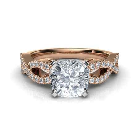 ddc30e7b3 Rose Gold Round Cut Diamond Engagement Ring - Tighe Jewellery Studio