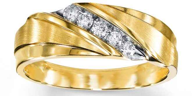 Yellow Gold Channel Set Wedding Band - Tighe Jewellery Studio