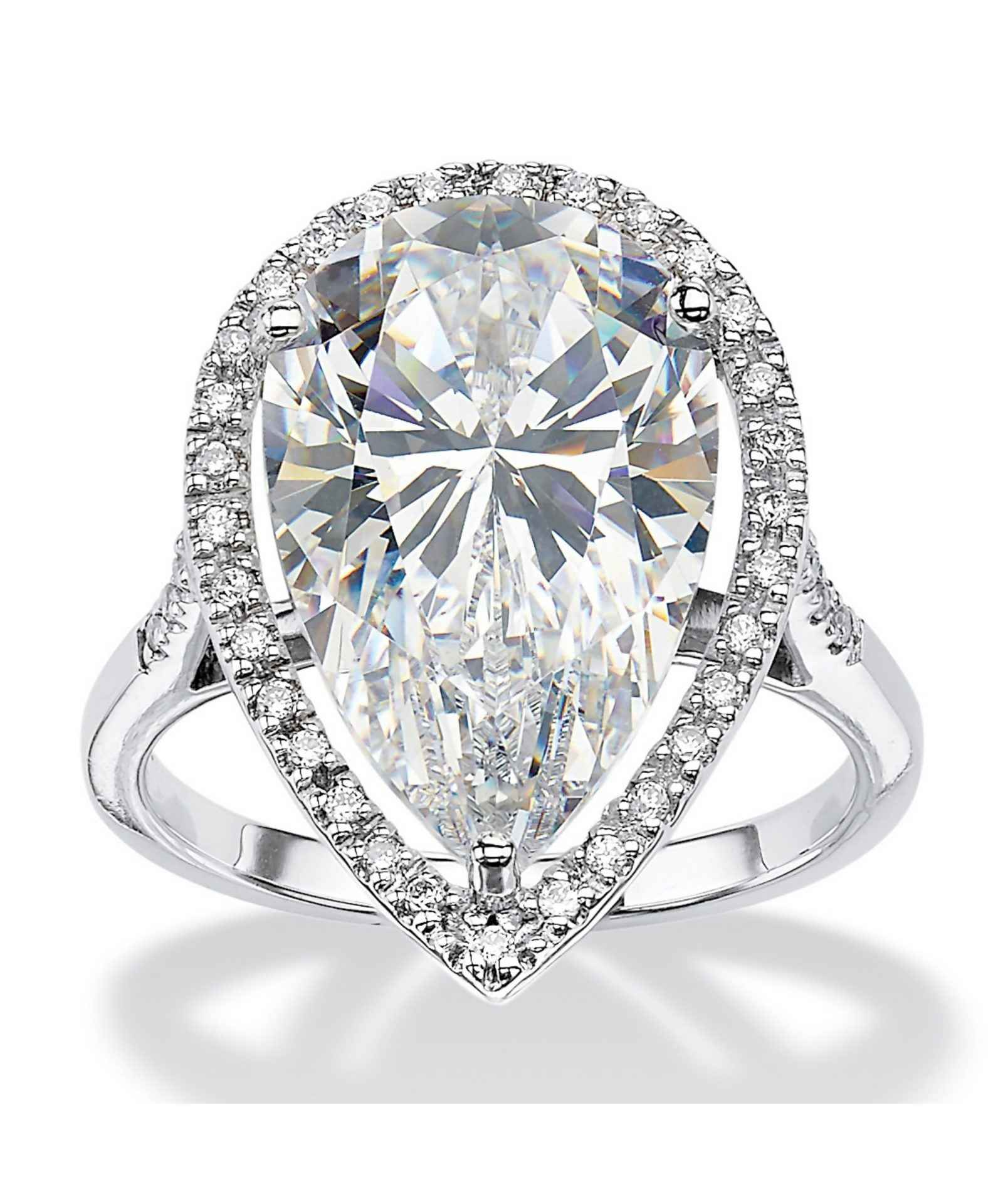 18ct White Gold Pear Shaped Diamond Engagement Ring With Halo Centre D 3cts Tighe Jewellery Studio